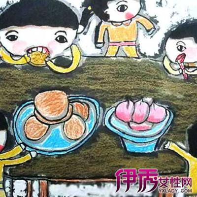【幼儿中秋节绘画作品】【图】欣赏幼儿中秋节绘画