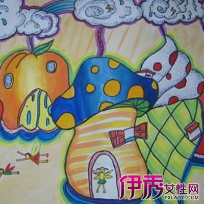 【水果房子儿童画】【图】欣赏水果房子儿童画图片
