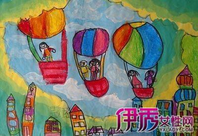 哒热气球儿童画简笔画 瞬间秒变可爱的画风