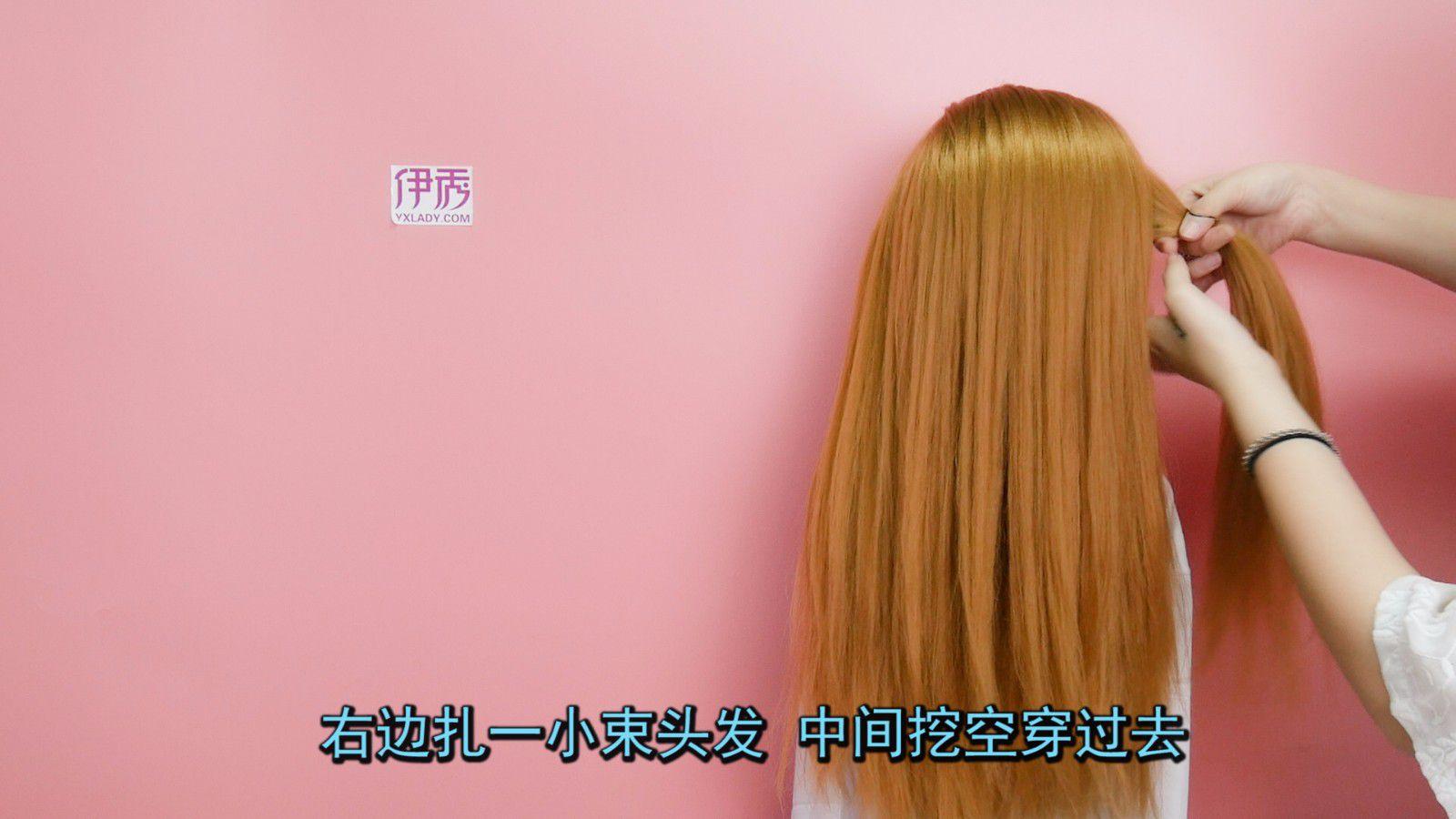 发型视频新娘简单a发型的发型新娘侧边盘发铲教学青图片