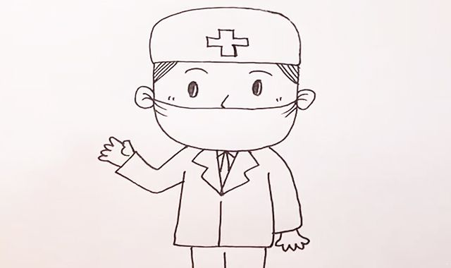 医生简笔画|医生简笔画怎么画|简笔画医生|