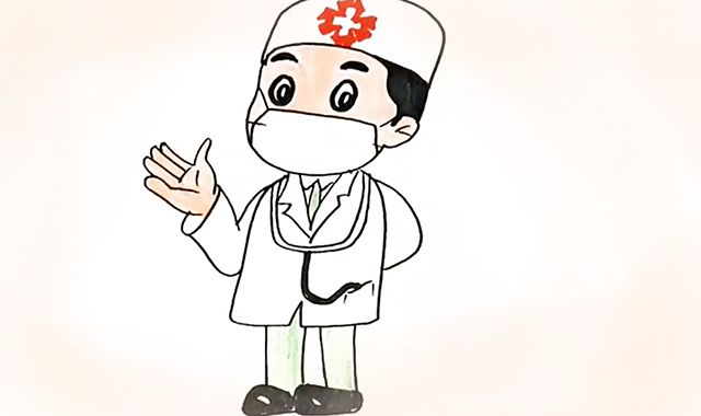 医生怎么画|医生简笔画|医生怎么画全身简笔画|