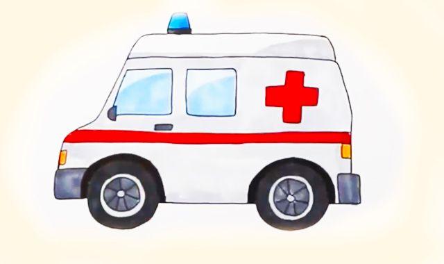 救护车简笔画 救护车简笔画怎么画 救护车怎么画简笔 